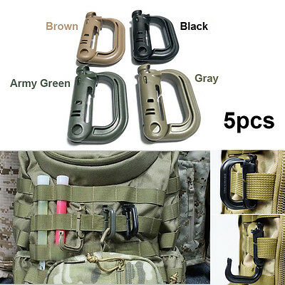 5PCS Grimloc Molle Locking D-ring EDC Webbing Buckle Clip Tool Military Products