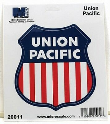 "Die-Cut Vinyl Stickers 4"" - Union Pacific Model trains"