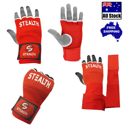 Inner Gel Hand Wraps Quick Gloves Red Fist Bandages Mma Boxing Straps