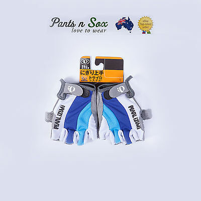 Bike Cycling Bicycle Motorcycle Gel Half Finger Gloves Size S-L Blue Sport Glove