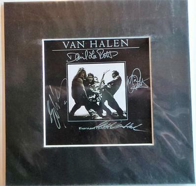 "Van Halen Album Cover Autographed Pre Print 10"" X 10"" With Mount Ready To Frame"