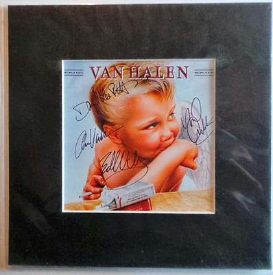 """Van Halen 1984 Autographed Pre Print 10"""" X 10"""" With Mount Ready To Frame"""