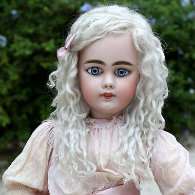 Helen ~ (Size 10-11) Pale Ash Blond Side Part Mohair Wig