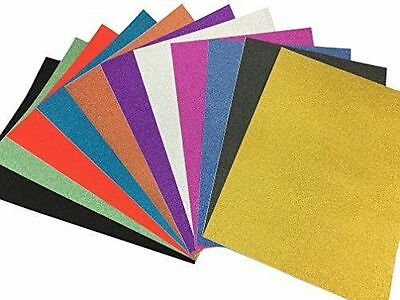 A4 Soft Touch Craft Glitter Cardstock 250gms Sparkling Card DIY craft 10 Sheets
