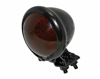 Cafe Racer Retro Motorcycle LED Bates Rear Stop Tail Light Red Lens