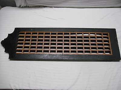 "Vintage Wood Floor/Wall Heat Register Grille Grate 35 1/4"" x 10 1/8"""