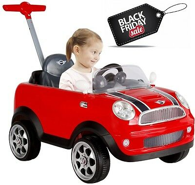 Push Buggy Car Ride On Toy Mini Cooper Canopy Kids Toddler Outdoor Girl Red