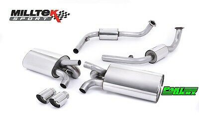MILLTEK Cat Back Exhaust Exc Cat Polished Tips Fit Porsche Cayman S 3.4 987 Gen1