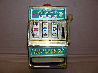 """Vintage Waco """"golden Jackpot"""" Slot Machine With Light And Sound"""