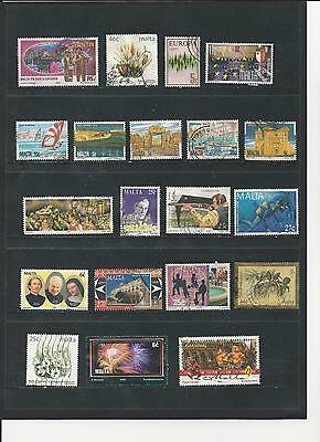 MALTA -  SELECTION OF USED STAMPS - MLT2ab  2 photos