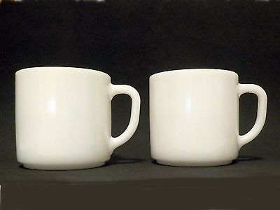 Federal Milk Glass white stackable