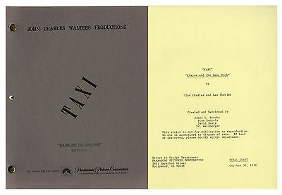 ''Taxi'' Script From 1978 -- From the Estate of Sam Simon