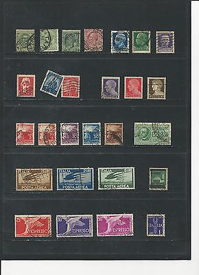ITALY - SELECTION OF USED STAMPS - #ITA3abcdef  6 photos