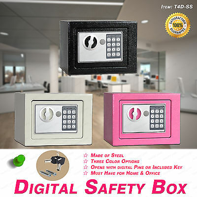 Security Home/office Digital Electronic Safety Box Key Cash Personal Lock 3Color