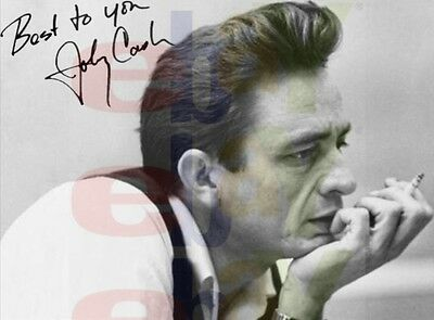 REPRINT RP 8x10 Signed Autographed Picture Photo: Johnny Cash Smoking casual