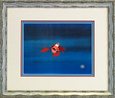 The Little Mermaid Sebastian Disney Original Production Cel 9x12 NEW Framed RARE