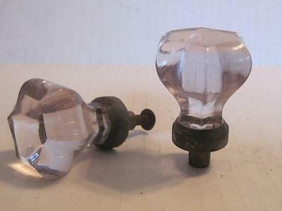 Lot of 2 Antique Purple Amethyst Glass Phonograph Knobs Vintage Pulls (#39A)