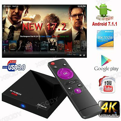 XGODY M8S+ MX Quad Core Android 6.0 TV Box Fully Loaded Free HD Sports Movies 4K