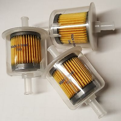 5/16 Inline fuel filter. Clear plastic 3 Pcs(Made in Israel)
