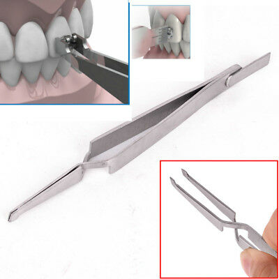1 Dental Direct Bracket Holder Orthodontic Bonding Serrated Instruments Tweezers
