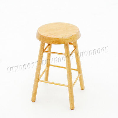 112 Dollhouse Bar Stool Miniature Furniture Wooden Chair Toy – Bar High Chair