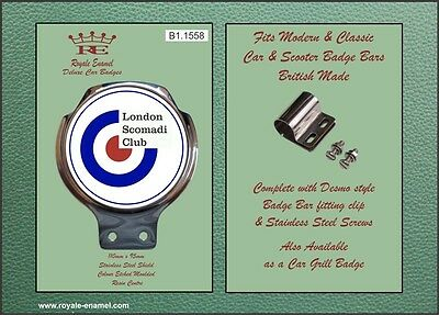 Royale Car Scooter Bar Badge - THE LONDON SCOMADI CLUB - B1.1558