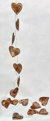 Abari Wire and Metal Heart Garland. Hanging Decorations.