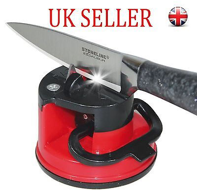 Sharpener Whetstone Grinder Suction Chef Pad Kitchen Tool for Knives Safety UK