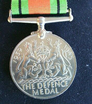 United Kingdom Defence Medal 1939 - 1945 Ribbon Second World War Campaign WW II