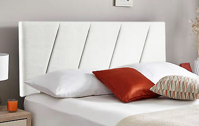 Paris Designer Headboard Bed Head In Leather, Chenille, Suede, Crushed Velvet