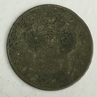 Antique 1796 Silver French 20 Sol Coin France