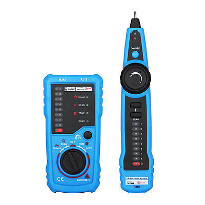 RJ11 RJ45 Telephone Wire Tracker Tracer Toner LAN Network Cable Tester Detector