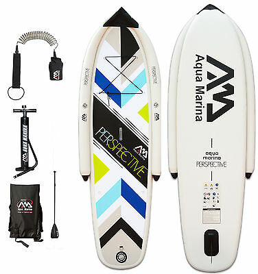ISUP Aqua Marina Perspective Stand Up Paddle Board Pumpe Alu-Paddel Leash Tasche