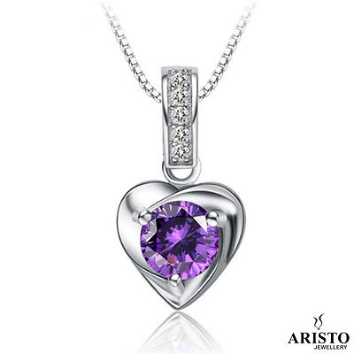 New 925 Sterling Silver Heart Pendant Necklace Chain Ladies Womens Jewellery UK