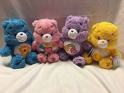 "Care Bears 8"" Fluffy Friends Lot Of 4 New With Tags Cute Cuddly Plush"
