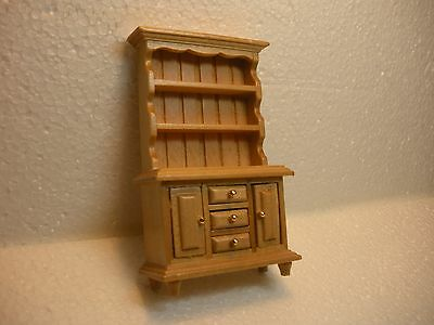 Dollhouse Mini Half Inch Scale Colonial Hutch