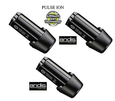 3-REPLACEMENT Lithium BATTERY for Andis PULSE Li+ Ion&SUPRA 120 CORDLESS CLIPPER