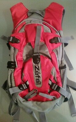 Zefal Red Hydro Two Liter Bladder Backpack w/ Tablet & Phone Storage