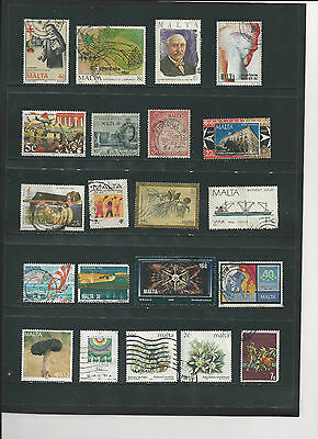 MALTA - SELECTION OF USED STAMPS - MLT24ab 2 photos
