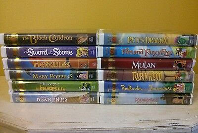 Lot of 12 Disney VHS Gold Collection Tapes