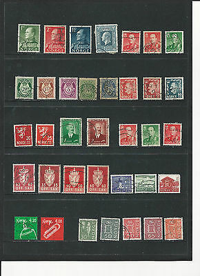 Norway- Selection Of Used Stamps - Nor2