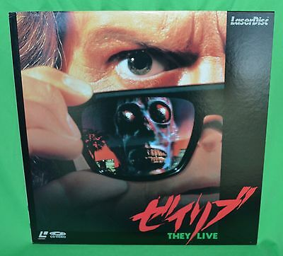 They Live Laserdisc - Japan Release Sf073-1666 * Rare *
