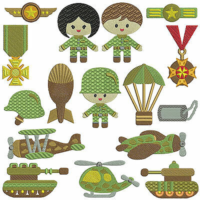 ARMY BOYS * Machine Embroidery Patterns  * 16 designs
