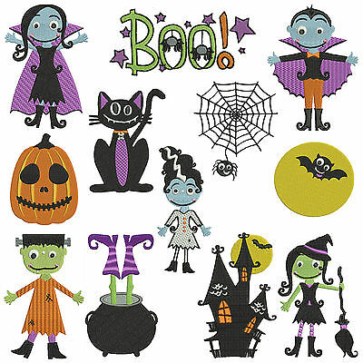 * HALLOWEEN 1 * Machine Embroidery Patterns ** 12 Designs in 3 sizes