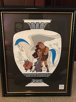 """Walt Disney Hercules """"Earthly Companions"""" Large Sericel Cel Limited Edition WDCC"""