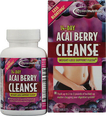 14-Day Acai Berry Cleanse, Applied Nutrition, 56 gelcap