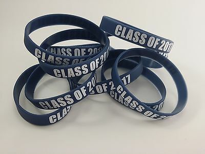 10 Pack of Class of 2017 Silicone Wrist Bands, New, Free Shipping,