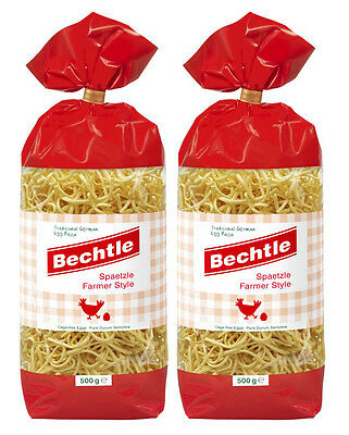 2 Bags Bechtle Spaetzle Farmer Style, Traditional German Cage-Free Egg Paste