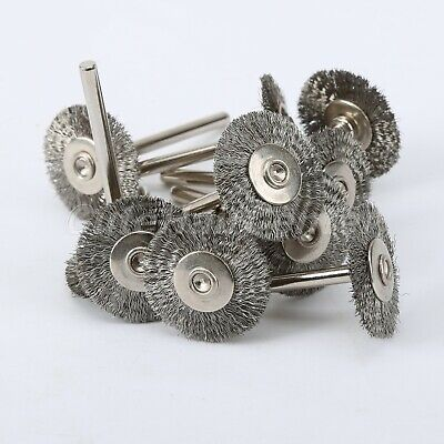 Stainless Steel Wire Wheel Brush Disc for Grinder Rotary Tool Polish Clean 10Pcs