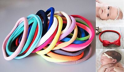 3/10 Pcs Nude  Nylon Soft High Stretch Baby Headband Hair Band Wrap